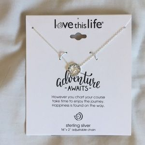 Jewelry - sterling silver compass necklace NWT